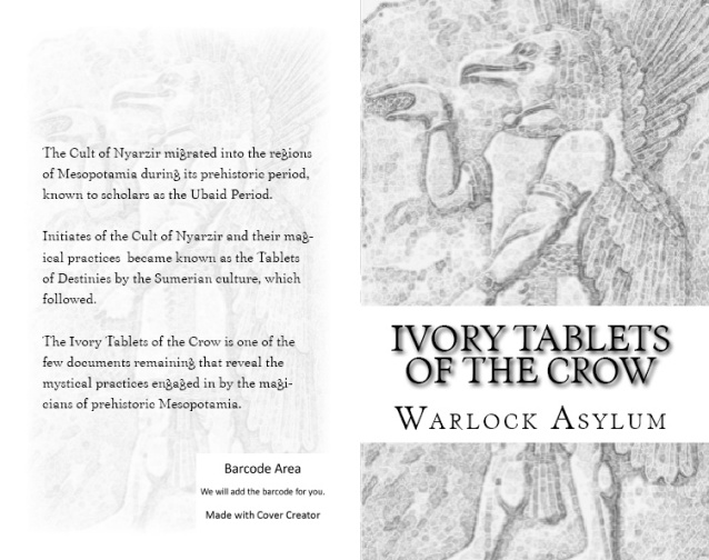 A preview of The Ivory Tablets of the Crow book cover.